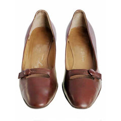 Vintage Womens Brown Leather Shoes Roger Vivier 1960s 9AA Box - The Best Vintage Clothing  - 2