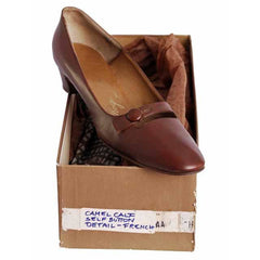 Vintage Womens Brown Leather Shoes Roger Vivier 1960s 9AA Box - The Best Vintage Clothing  - 4