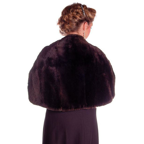 Vintage Soft Chocolate Brown Beaver Fur Stole 1940's Perfect Strapless Dress Topper - The Best Vintage Clothing  - 7