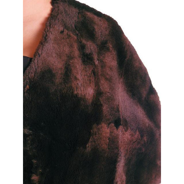 Vintage Soft Chocolate Brown Beaver Fur Stole 1940's Perfect Strapless Dress Topper - The Best Vintage Clothing  - 3
