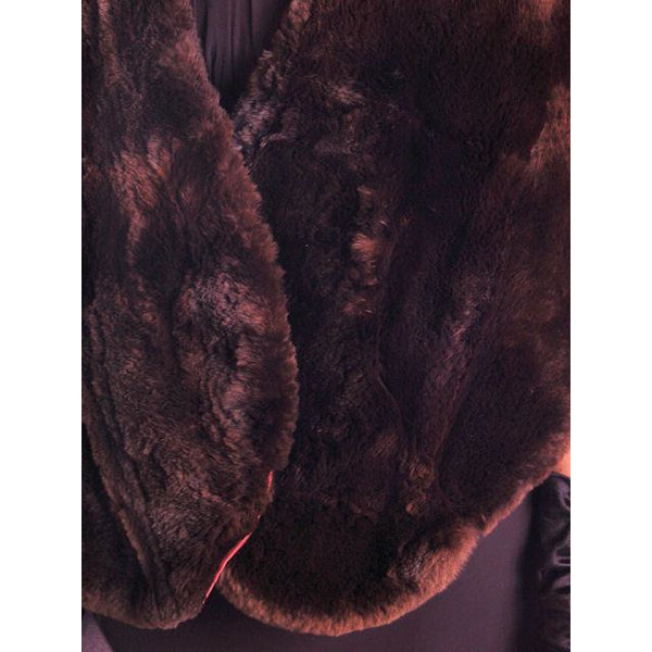 Vintage Soft Chocolate Brown Beaver Fur Stole 1940's Perfect Strapless Dress Topper - The Best Vintage Clothing  - 4