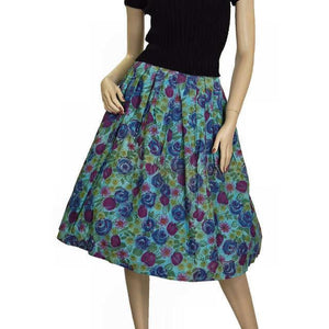 "Vintage Cotton Skirt Floral Print 1940'S Colette 25""W - The Best Vintage Clothing  - 1"