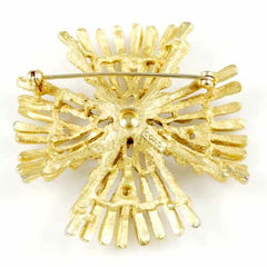 "Vintage Coro Goldtone ""Maltese Cross"" Brooch 1950'S - The Best Vintage Clothing  - 2"