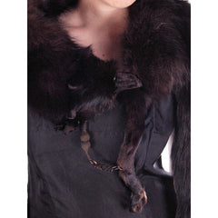 Vintage Dark Brown Full Fox Fur  Wrap/Scarf  1930S Celluloid Clip - The Best Vintage Clothing  - 4