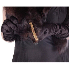 Vintage Dark Brown Full Fox Fur  Wrap/Scarf  1930S Celluloid Clip - The Best Vintage Clothing  - 7