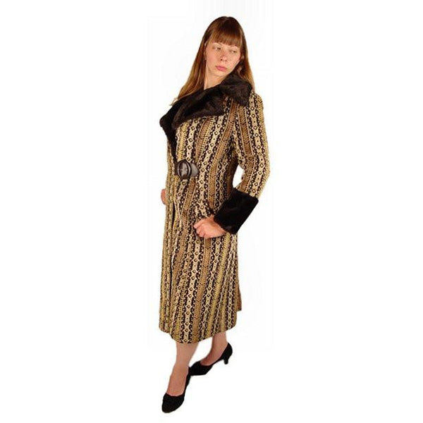 Vintage Geometric Cut Corduroy Coat Asymmetrical 1970S Medium - The Best Vintage Clothing  - 1