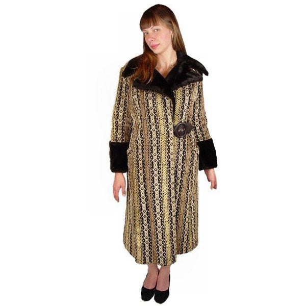 Vintage Geometric Cut Corduroy Coat Asymmetrical 1970S Medium - The Best Vintage Clothing  - 2