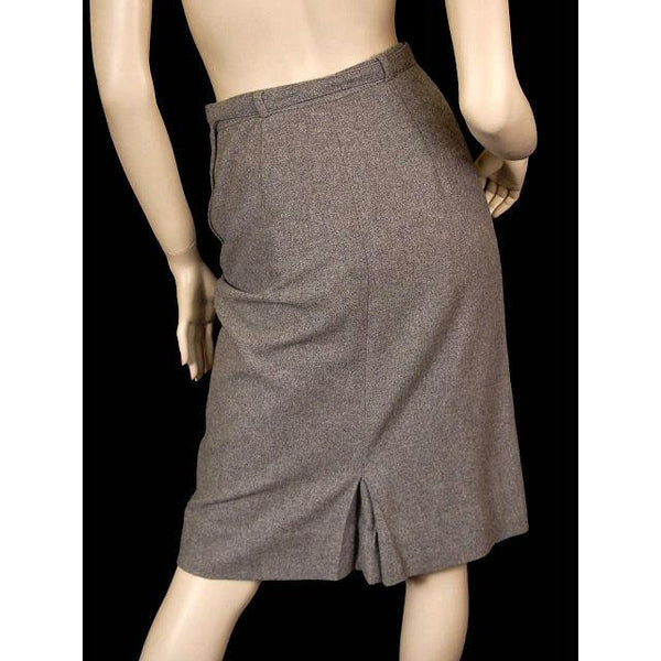 Vintage Pencil Skirt Gray Cashmere 1950s Bernard Altmann 26 Waist - The Best Vintage Clothing  - 3