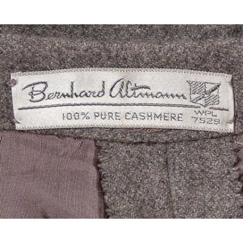 Vintage Pencil Skirt Gray Cashmere 1950s Bernard Altmann 26 Waist - The Best Vintage Clothing  - 4