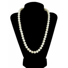 "Vintage Pale Green Quartz Bead Necklace 14K Clasp 20"" - The Best Vintage Clothing  - 5"