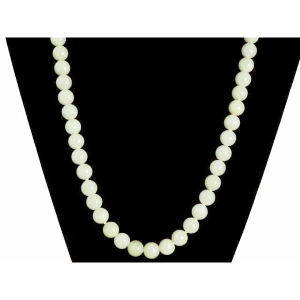 "Vintage Pale Green Quartz Bead Necklace 14K Clasp 20"" - The Best Vintage Clothing  - 3"