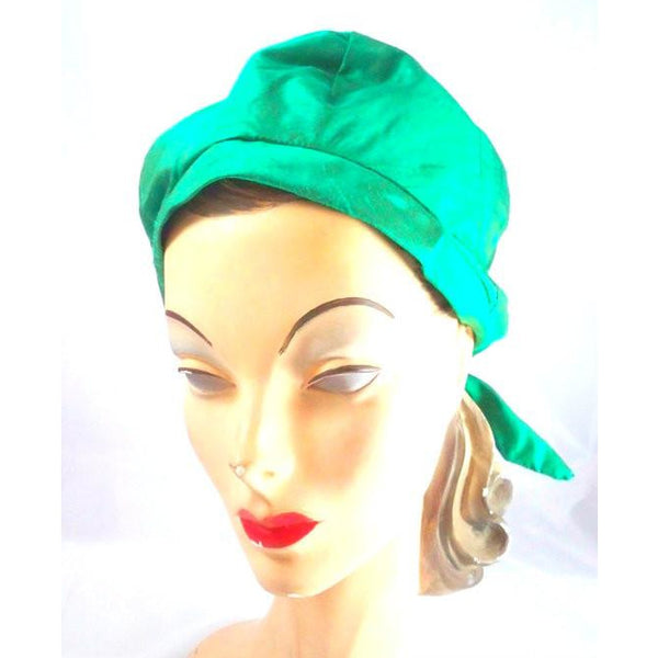 Vintage Green Silk Bubble Beehive Hat 1950s Large - The Best Vintage Clothing  - 2