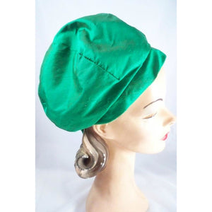 Vintage Green Silk Bubble Beehive Hat 1950s Large - The Best Vintage Clothing  - 1
