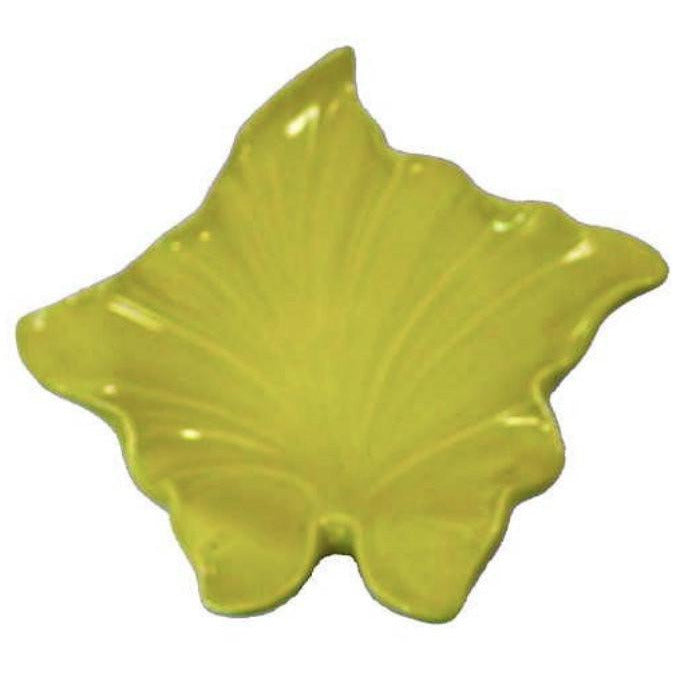 Vintage Mid-Century  Huge Pottery Leaf Bowl Chartreuse 1950's - The Best Vintage Clothing  - 1