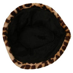 Vintage Hat Leopard Faux Fur Felt Bucket Hat 1950'S - The Best Vintage Clothing  - 3