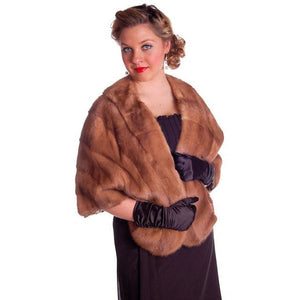 Vintage Mink Stole Light Autumn Haze Fur Stole Coronet Shops 1950 - The Best Vintage Clothing  - 1