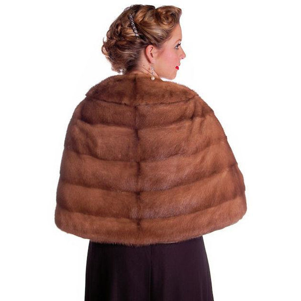 Vintage Mink Stole Light Autumn Haze Fur Stole Coronet Shops 1950 - The Best Vintage Clothing  - 2