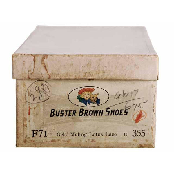 Vintage  Mahogany Leather High Lace Boots 1910 Sz 7N New In BOX Buster Brown - The Best Vintage Clothing  - 6