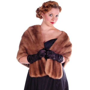 Vintage Stole Mink Stole Autumn Haze Silk Lined 1950S - The Best Vintage Clothing  - 1