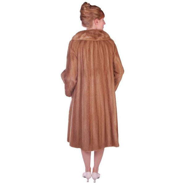 Vintage Mink Coat Autumn Haze Fantastic Buttons 1950s Small - The Best Vintage Clothing  - 2