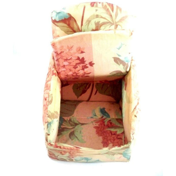 Vintage Miniature Boudoir Chair/Sewing Box Shabby Pink Chintz Print 1930s - The Best Vintage Clothing  - 2