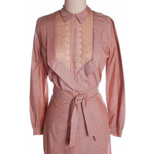 Vintage Mocha Cotton 3 Pc Dress Maison France 1940s 39-26-37 - The Best Vintage Clothing  - 10