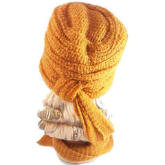 Vintage Mr. John Butternut Knit Hat w/ Attached Scarf 1950s - The Best Vintage Clothing  - 2