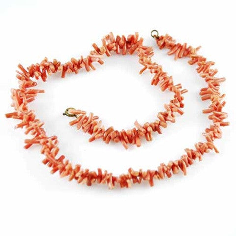 Vintage Natural Coral Necklace 1930S - The Best Vintage Clothing  - 4