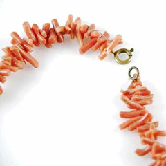 Vintage Natural Coral Necklace 1930S - The Best Vintage Clothing  - 3