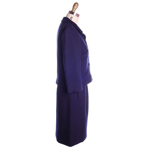 Vintage Navy Blue Wool  Suit Ben Zuckerman Sz 4 Late 1950s - The Best Vintage Clothing  - 2