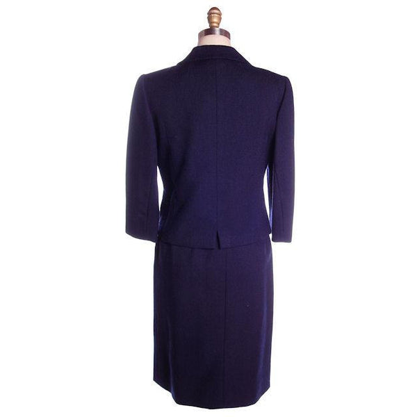 Vintage Navy Blue Wool  Suit Ben Zuckerman Sz 4 Late 1950s - The Best Vintage Clothing  - 3