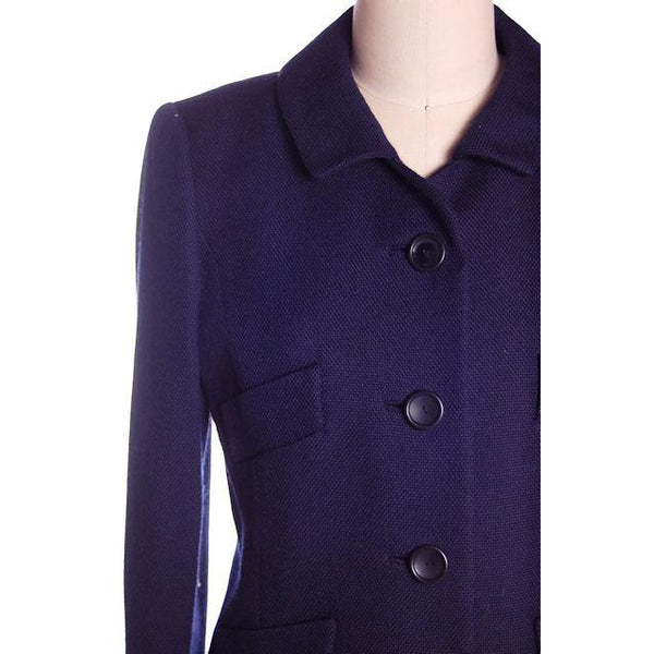 Vintage Navy Blue Wool  Suit Ben Zuckerman Sz 4 Late 1950s - The Best Vintage Clothing  - 4