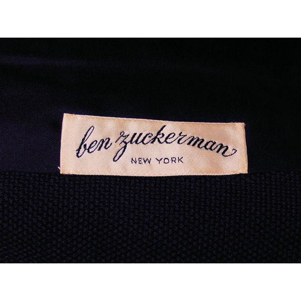 Vintage Navy Blue Wool  Suit Ben Zuckerman Sz 4 Late 1950s - The Best Vintage Clothing  - 6