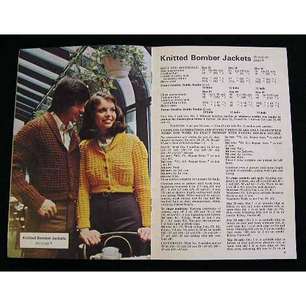 Vintage Crochet Pattern Catalogue  Pattons Jackets/Sweaters Men & Ladies Instructions 1970s - The Best Vintage Clothing  - 2
