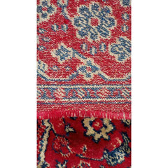 "3 Gorgeous  Vintage Persian Wool Throw Rugs 1940S Red Blue 45"" X 26"" - The Best Vintage Clothing  - 3"