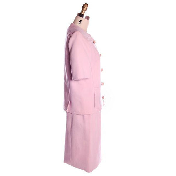 Vintage Pink Wool Suit Ben Zuckerman 1960's SZ 4 - The Best Vintage Clothing  - 2