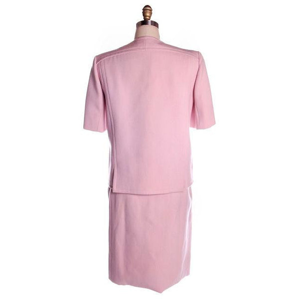Vintage Pink Wool Suit Ben Zuckerman 1960's SZ 4 - The Best Vintage Clothing  - 3