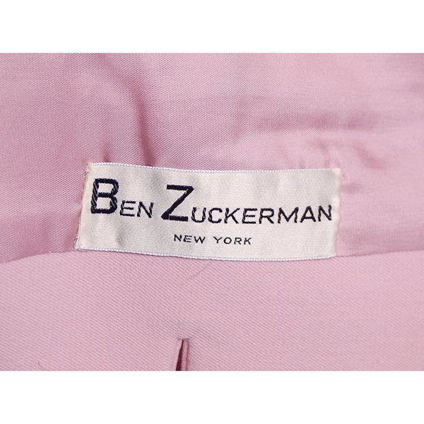 Vintage Pink Wool Suit Ben Zuckerman 1960's SZ 4 - The Best Vintage Clothing  - 7