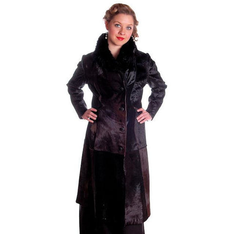 Vintage Black-Brown Shades Pony Fur Trench Coat 1970s Provenance Size 10-12 - The Best Vintage Clothing  - 1