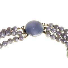 Vintage Purple Aurora Bubble 3 Strand Necklace Stunning 1960S - The Best Vintage Clothing  - 2
