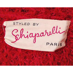 Vintage Schiaparelli Sweater Raspberry Wool  1950S Large - The Best Vintage Clothing  - 5