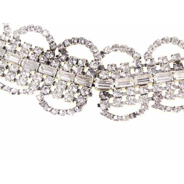 Vintage Rhinestone Bracelet For Costume/Parts 1950S - The Best Vintage Clothing  - 3