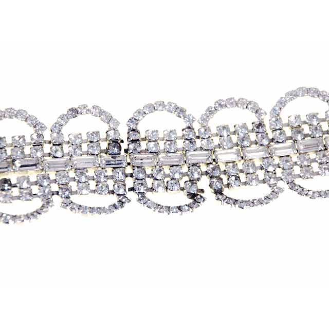 Vintage Rhinestone Bracelet For Costume/Parts 1950S - The Best Vintage Clothing  - 1