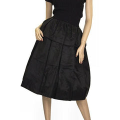 "Vintage 1940s  Skirt  Ruffled  Black Taffeta WOmens  24"" Waist - The Best Vintage Clothing  - 2"