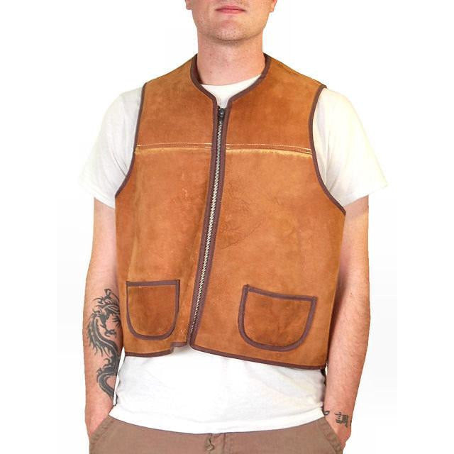 Vintage Mens Vest Shearling Hunting Vest 1950S Cool Pockets - The Best Vintage Clothing  - 1