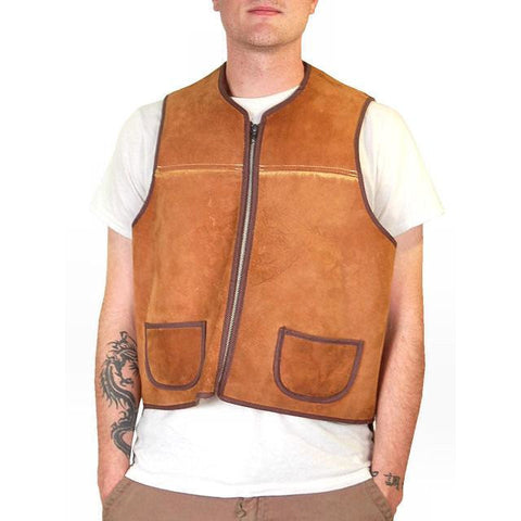 Vintage Mens Vest Shearling Hunting Vest 1950S Cool Pockets