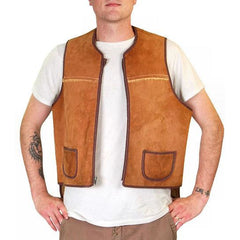Vintage Mens Vest Shearling Hunting Vest 1950S Cool Pockets - The Best Vintage Clothing  - 3