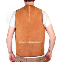 Vintage Mens Vest Shearling Hunting Vest 1950S Cool Pockets - The Best Vintage Clothing  - 2