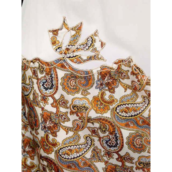 Vintage Half Slip Silk Paisley Appliqué Elizabeth Arden 1950S Small - The Best Vintage Clothing  - 2