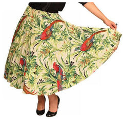 Vintage Circle Skirt Large Scale Print Bark Cloth Super 1940S Small - The Best Vintage Clothing  - 4